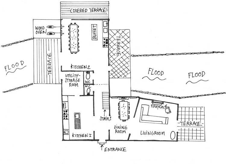 Moulin Calbel - Plan - Ground Floor