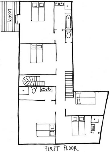 Moulin Calbel - Plan - First Floor